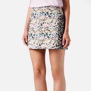 EUC Topshop Garden Floral Jacquard Skirt Size 10